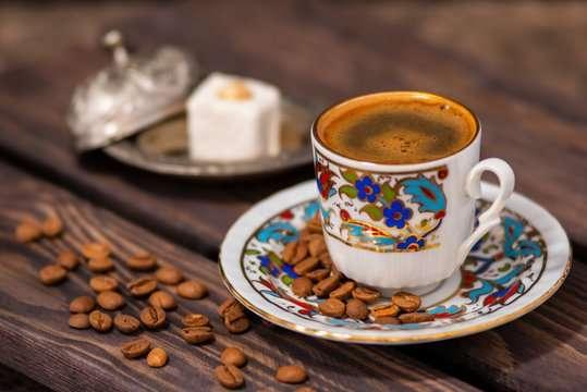 قهوة تركية بدون كافيين