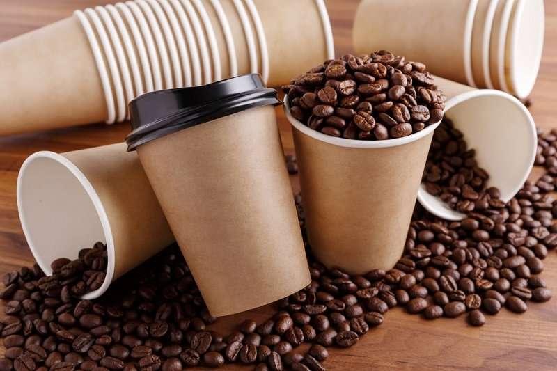 كوب قهوة ورقي